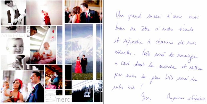 carte de remerciement de myriam - Discours De Remerciement Mariage